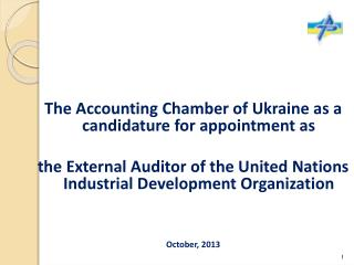 The Accounting Chamber of Ukraine as a candidature for appointment as