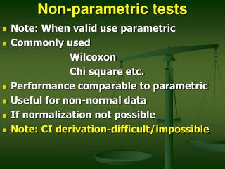 Non-parametric tests