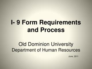 I-9 Form Requirements