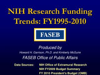 NIH Research Funding Trends: FY1995-2010