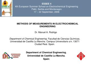 METHODS OF MEASUREMENTS IN ELECTROCHEMICAL ENGINEERING