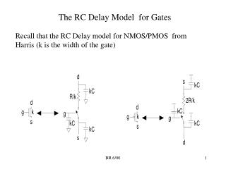 The RC Delay Model  for Gates