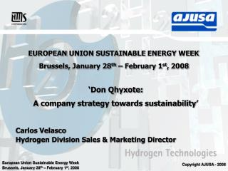 EUROPEAN UNION SUSTAINABLE ENERGY WEEK
