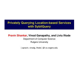 Privately Querying Location-based Services with SybilQuery