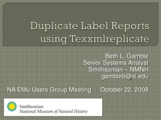 Duplicate Label Reports using  Texxmlreplicate