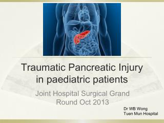 Traumatic Pancreatic Injury in paediatric patients