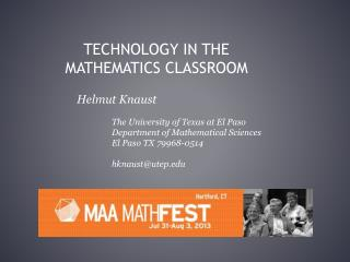 Technology in the Mathematics Classroom