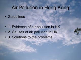 Air Pollution  in Hong Kong
