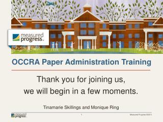 OCCRA Paper Administration Training