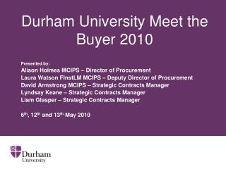Durham University Meet the Buyer 2010
