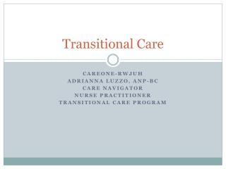Transitional Care