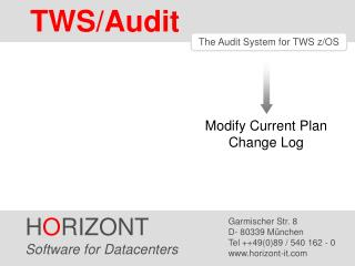 TWS/Audit