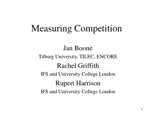 Measuring Competition