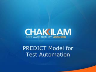 PREDICT Model for  Test Automation
