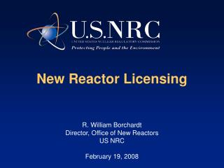 New Reactor Licensing
