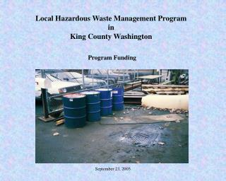 Local Hazardous Waste Management Program  in  King County Washington Program Funding