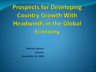 Prospects for Developing Country Growth With Headwinds in the Global Economy
