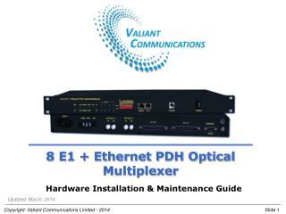 8 E1 + Ethernet PDH Optical Multiplexer