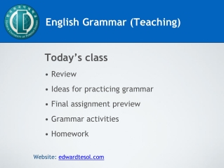 English Grammar Teaching