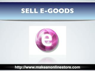 Sell Downloadable E-goods