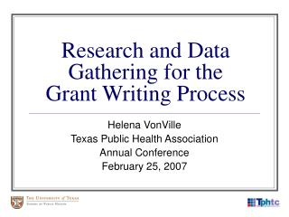 Research and Data Gathering for the Grant Writing Process