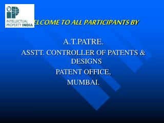 WELCOME TO ALL PARTICIPANTS BY