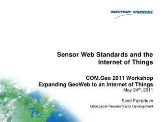 Sensor Web Standards and the Internet of Things
