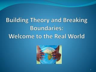 Building Theory and Breaking Boundaries:   Welcome to the Real World