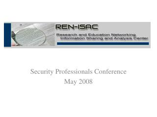 Security Professionals Conference May 2008