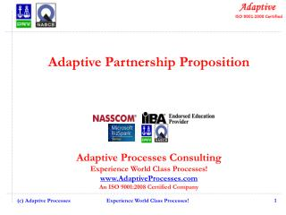 Adaptive Partnership Proposition Adaptive Processes Consulting