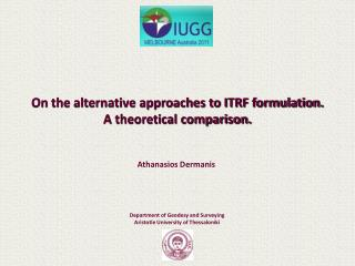 On the alternative approaches to ITRF formulation. A theoretical comparison.