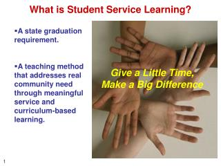 What is Student Service Learning?