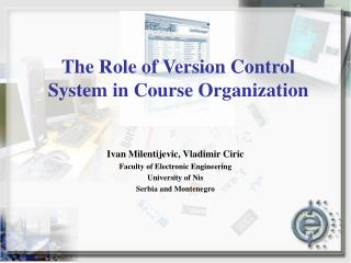 The Role of Version Control System in Course Organization