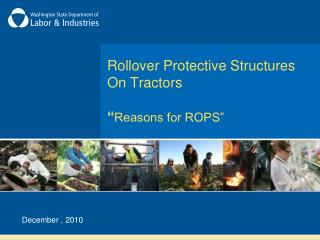 "Rollover Protective Structures On Tractors "" Reasons for ROPS"""