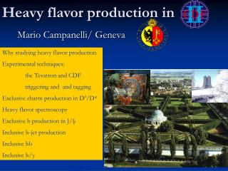 Heavy flavor production in