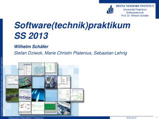 Software( technik ) praktikum SS  2013