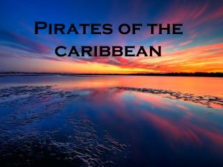P irates of the caribbean