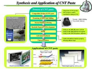 Synthesis and Application of CNT Paste