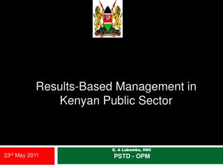 Results-Based Management in Kenyan Public Sector