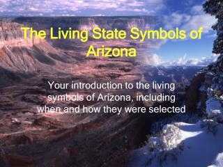 The Living State Symbols of Arizona