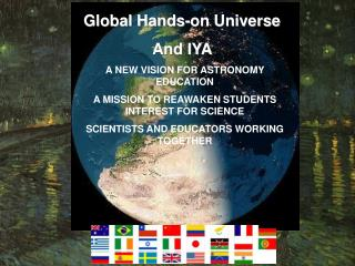 A NEW VISION FOR ASTRONOMY EDUCATION A MISSION TO REAWAKEN STUDENTS INTEREST FOR SCIENCE SCIENTISTS AND EDUCATORS WORKIN