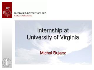 Internship at  University of Virginia