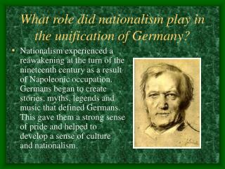 What role did nationalism play in the unification of Germany?