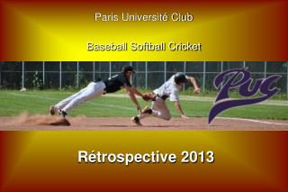 Paris Université Club Baseball Softball Cricket