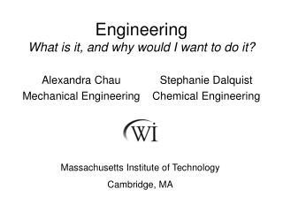 Engineering  What is it, and why would I want to do it?