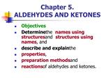 Chapter 5.  ALDEHYDES AND KETONES