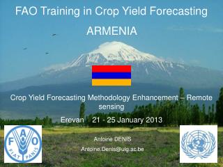 FAO Training in Crop Yield Forecasting ARMENIA