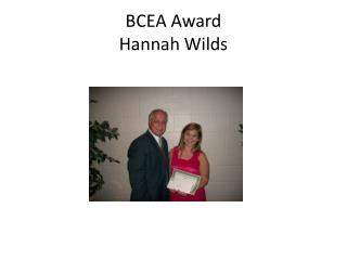 BCEA Award Hannah Wilds