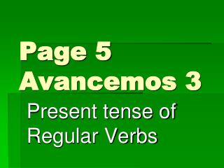 Page 5 Avancemos 3