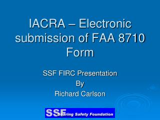 IACRA – Electronic submission of FAA 8710 Form